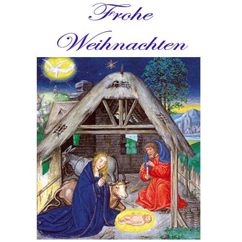 weihnachtskarte din a6 christliche gru karte weihnachten. Black Bedroom Furniture Sets. Home Design Ideas